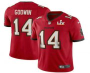 Wholesale Cheap Men's Tampa Bay Buccaneers #14 Chris Godwin Red 2021 Super Bowl LV Vapor Untouchable Stitched Nike Limited NFL Jersey
