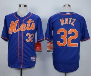 Wholesale Cheap Mets #32 Steven Matz Blue Alternate Home Cool Base Stitched MLB Jersey