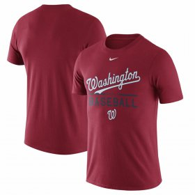 Wholesale Cheap Washington Nationals Nike Away Practice T-Shirt Red