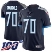 Wholesale Cheap Nike Titans #70 Ty Sambrailo Navy Blue Team Color Youth Stitched NFL 100th Season Vapor Untouchable Limited Jersey