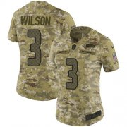 Wholesale Cheap Nike Seahawks #3 Russell Wilson Camo Women's Stitched NFL Limited 2018 Salute to Service Jersey
