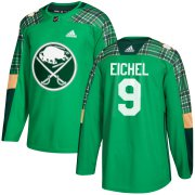 Wholesale Cheap Adidas Sabres #9 Jack Eichel adidas Green St. Patrick's Day Authentic Practice Stitched NHL Jersey