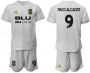 Wholesale Cheap Valencia #9 Paco Alcacer Home Soccer Club Jersey