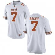 Wholesale Cheap Men's Texas Longhorns 7 Shane Buechele White Nike College Jersey