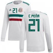Wholesale Cheap Mexico #21 C.Pena Away Long Sleeves Soccer Country Jersey