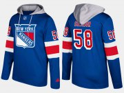 Wholesale Cheap Rangers #58 John Gilmour Blue Name And Number Hoodie