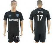 Wholesale Cheap West Ham United #17 Obrien Away Soccer Club Jersey