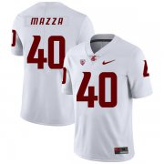 Wholesale Cheap Washington State Cougars 40 Blake Mazza White College Football Jersey