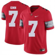Wholesale Cheap Ohio State Buckeyes 7 Ted Ginn Jr Red 2018 Spring Game College Football Limited Jersey