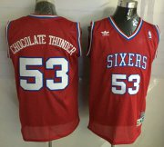 Wholesale Cheap Philadelphia 76ers #53 Chocolate Thunder Nickname Red Soul Swingman Jersey
