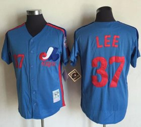 Wholesale Cheap Mitchell And Ness Expos #37 Bill Lee Blue Throwback Stitched MLB Jersey
