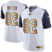 Wholesale Cheap Nike Cowboys #82 Jason Witten White Youth Stitched NFL Limited Gold Rush Jersey