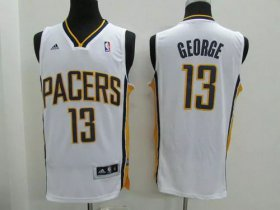 Wholesale Cheap Indiana Pacers #13 Paul George Revolution 30 Swingman White Jersey