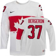 Wholesale Cheap Olympic 2014 CA. #37 Patrice Bergeron White Stitched NHL Jersey