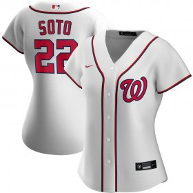 Wholesale Cheap Washington Nationals #22 Juan Soto Nike Women\'s Home 2020 MLB Player Jersey White