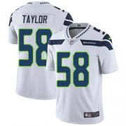 Wholesale Cheap Nike Seahawks #58 Darrell Taylor White Men's Stitched NFL Vapor Untouchable Limited Jersey