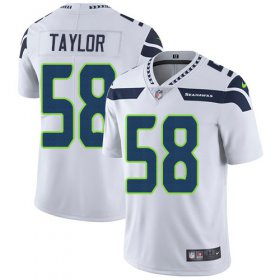Wholesale Cheap Nike Seahawks #58 Darrell Taylor White Men\'s Stitched NFL Vapor Untouchable Limited Jersey