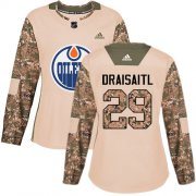 Wholesale Cheap Adidas Oilers #29 Leon Draisaitl Camo Authentic 2017 Veterans Day Women's Stitched NHL Jersey