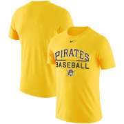 Wholesale Cheap Pittsburgh Pirates Nike Practice Performance T-Shirt Gold