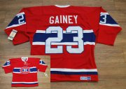 Wholesale Cheap Canadiens #23 Bob Gainey Stitched Red CH CCM Throwback NHL Jersey