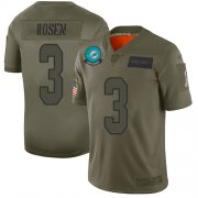 Wholesale Cheap Nike Dolphins #3 Josh Rosen Camo Men's Stitched NFL Limited 2019 Salute To Service Jersey