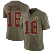 Wholesale Cheap Nike Redskins #18 Josh Doctson Olive Youth Stitched NFL Limited 2017 Salute to Service Jersey
