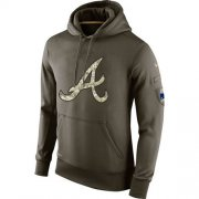 Wholesale Cheap Men's Atlanta Braves Nike Olive Salute To Service KO Performance Hoodie