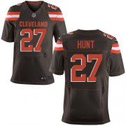 Wholesale Cheap Nike Browns #27 Kareem Hunt Brown Team Color Men's Stitched NFL Vapor Untouchable Elite Jersey