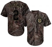 Wholesale Cheap Astros #2 Alex Bregman Camo Realtree Collection Cool Base Stitched Youth MLB Jersey