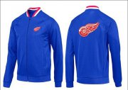 Wholesale Cheap NHL Detroit Red Wings Zip Jackets Blue-1