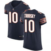 Wholesale Cheap Nike Bears #10 Mitchell Trubisky Navy Blue Team Color Men's Stitched NFL Vapor Untouchable Elite Jersey