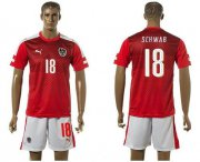 Wholesale Cheap Austria #18 Schwab Red Home Soccer Country Jersey