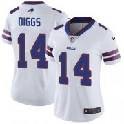 Wholesale Cheap Nike Bills #14 Stefon Diggs White Women's Stitched NFL Vapor Untouchable Limited Jersey