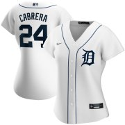 Wholesale Cheap Detroit Tigers #24 Miguel Cabrera Nike Women's Home 2020 MLB Player Jersey White