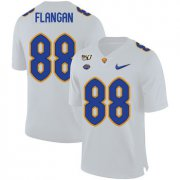 Wholesale Cheap Pittsburgh Panthers 88 Matt Flanagan White 150th Anniversary Patch Nike College Football Jersey