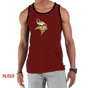 Wholesale Cheap Men's Nike NFL Minnesota Vikings Sideline Legend Authentic Logo Tank Top Red
