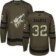 Wholesale Cheap Adidas Coyotes #32 Antti Raanta Green Salute to Service Stitched NHL Jersey
