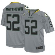 Wholesale Cheap Nike Packers #52 Clay Matthews Lights Out Grey Youth Stitched NFL Elite Jersey