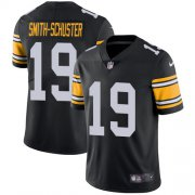 Wholesale Cheap Nike Steelers #19 JuJu Smith-Schuster Black Alternate Men's Stitched NFL Vapor Untouchable Limited Jersey