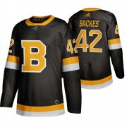 Wholesale Cheap Adidas Boston Bruins #42 David Backes Black 2019-20 Authentic Third Stitched NHL Jersey