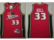 Wholesale Cheap Detroit Pistons 33 Grant Hill Swingman Red Throwback Adidas Jersey