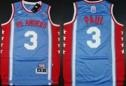 Wholesale Cheap Los Angeles Clippers #3 Chris Paul ABA Hardwood Classic Swingman Blue Jersey