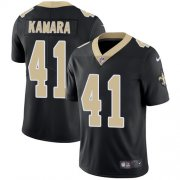 Wholesale Cheap Nike Saints #41 Alvin Kamara Black Team Color Men's Stitched NFL Vapor Untouchable Limited Jersey
