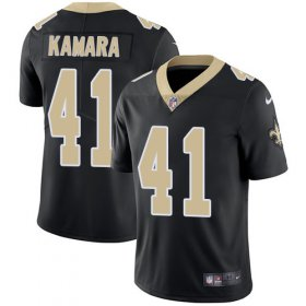 Wholesale Cheap Nike Saints #41 Alvin Kamara Black Team Color Men\'s Stitched NFL Vapor Untouchable Limited Jersey