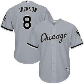 Wholesale Cheap White Sox #8 Bo Jackson Grey Road Cool Base Stitched Youth MLB Jersey