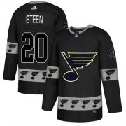 Wholesale Cheap Adidas Blues #20 Alexander Steen Black Authentic Team Logo Fashion Stitched NHL Jersey