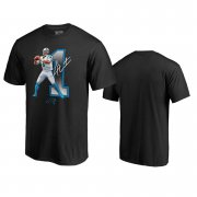 Wholesale Cheap Carolina Panthers #1 Cam Newton Black Men's Player Graphic Powerhouse T-Shirt