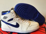 Wholesale Cheap Air Jordan 1 Retro Shoes White/Real Blue