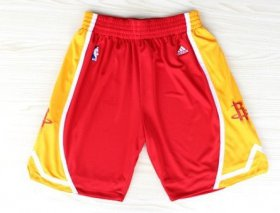 Wholesale Cheap Houston Rockets Red With Gold Short