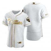 Wholesale Cheap Philadelphia Phillies Blank White Nike Men's Authentic Golden Edition MLB Jersey